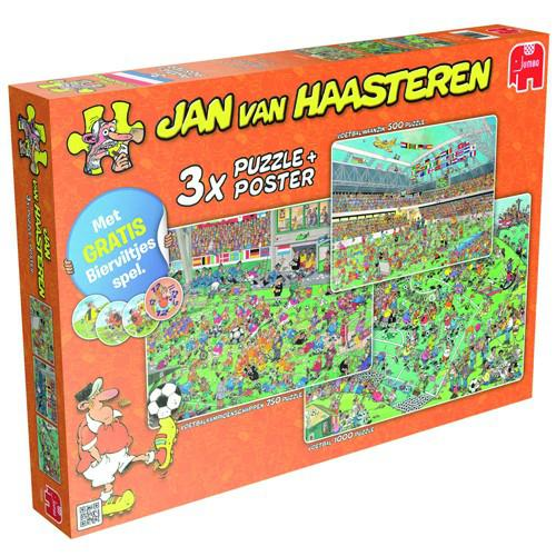 Jan van Haasteren puzzelset voetbal 1000 stukjes