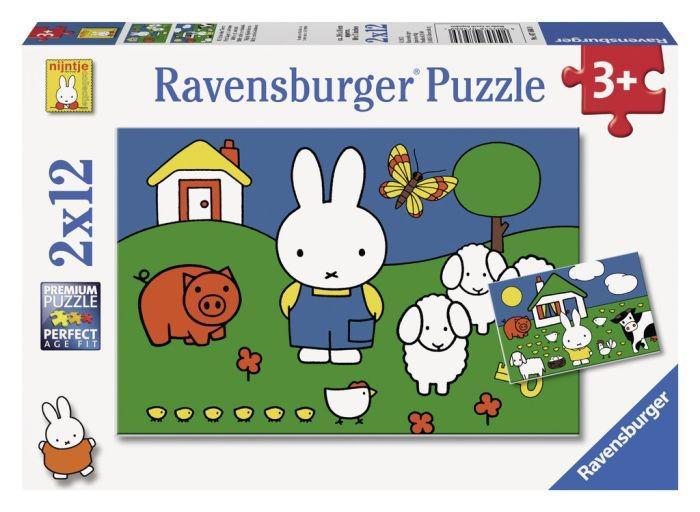 Ravensburger puzzelset Nijntje bij de dieren 12 stukjes vanaf 3