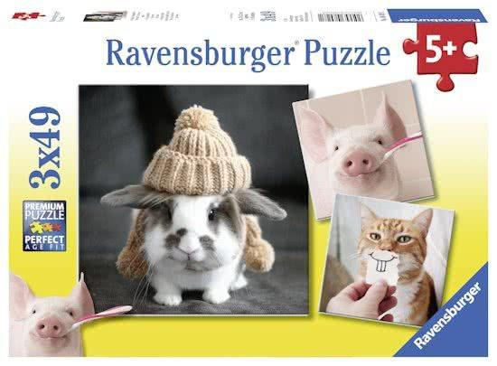 Ravensburger Puzzelset Komische Dieren 49 stukjes vanaf 5 jaar